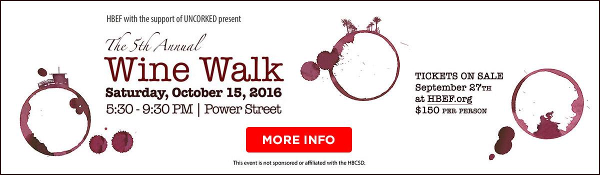 wine walk banner
